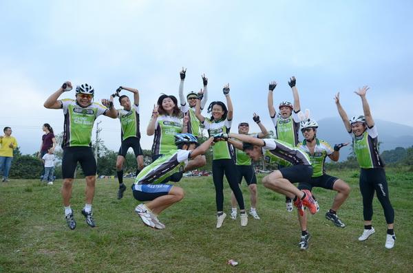 埔里奇單車是洋溢歡樂又健身的車隊。(柏原祥攝)