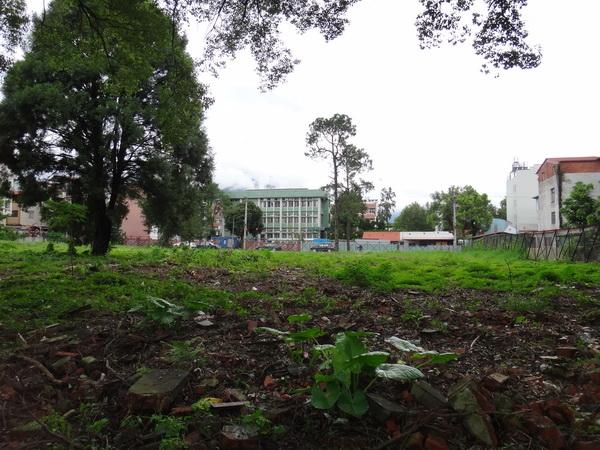 埔里圖書館前這塊一千四百坪國有土地,擬對外招商,開發藝文飯店。(柏原祥攝)