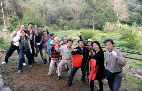 蝴蝶棲地營造的行動,成為藏機閣體驗活動的重要內容,大家在勞動中為蝴蝶盡一份心。