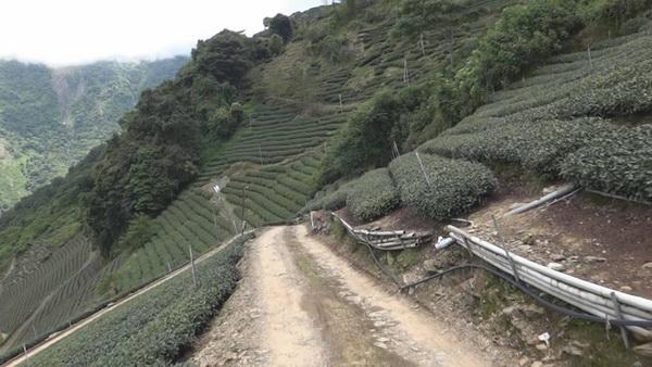 慈峰產業道路路況不佳,已發生多起翻車事故。(諾爾攝)