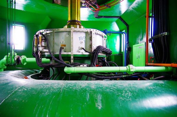 水力發電是潔淨的綠色能源。(陳里維攝)
