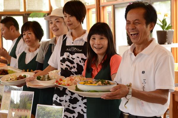 埔里鎮桃米社區推出蝴蝶創意料理,並即將舉辦廚藝大賽。(廖肇祥攝)
