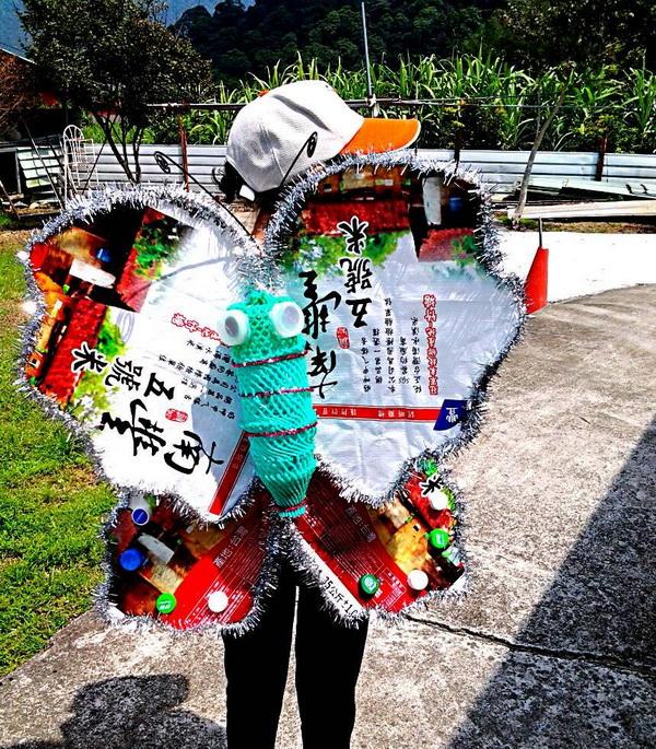 蝴蝶裝扮大賽,題目:米蝶__宇家小隊。(圖/世界無車日_埔里場主辦單位提供)