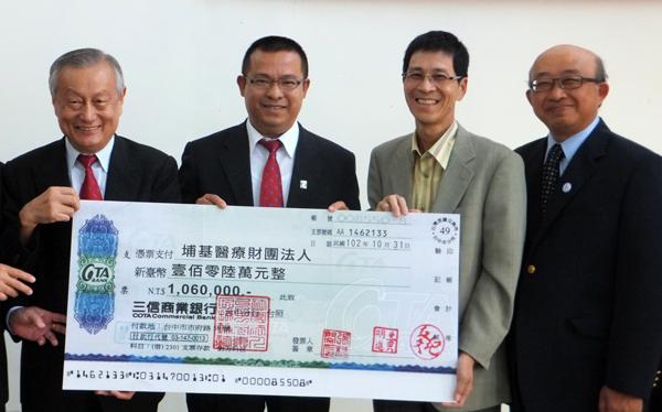 埔里基督教醫院獲捐款百萬蓋長照大樓,圖二為回饋鄉里的童建智。(唐茹蘋攝)