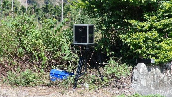 台十四線公路埔里路段出現流動測速相機,速限僅四十公里,引起仁愛鄉民反彈。(no攝)