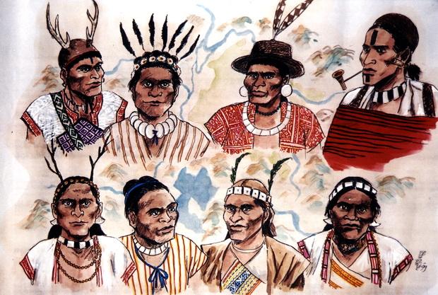 水沙連族群的肖像。(圖/邱若龍繪 鄧相揚提供)