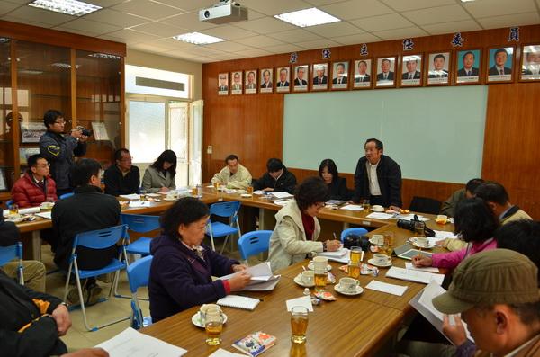 立委馬文君邀集中央官員及地方觀光業代表,針對清境合法化問題召開座談。(柏原祥攝)