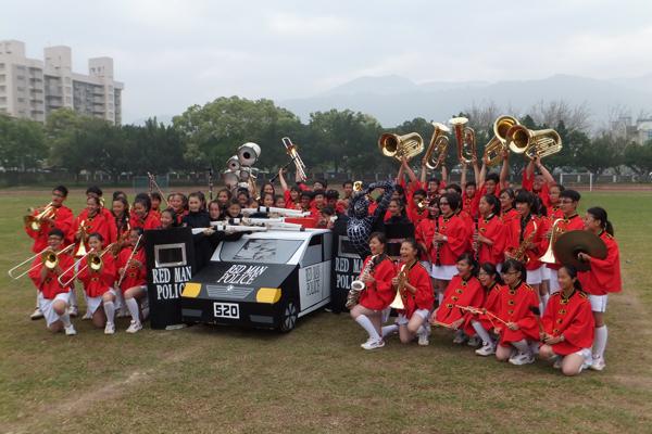 宏仁國中管樂團以完美的演出獲全國比賽中區之冠。(唐茹蘋攝)