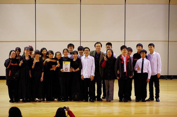 大成國中弦樂隊音樂教學資源有限,但仍在全國學生音樂比賽中區決賽中獲得首獎。(陳里維攝)