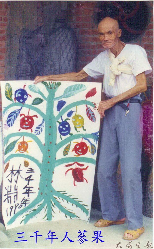 林淵繪畫作品,三千年人蔘果