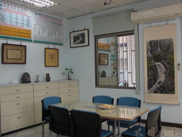 埔里自來水公司設置藝術休憩區(黃敬婷攝)