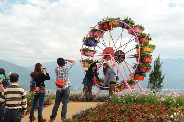 埔里花卉嘉年華遊客