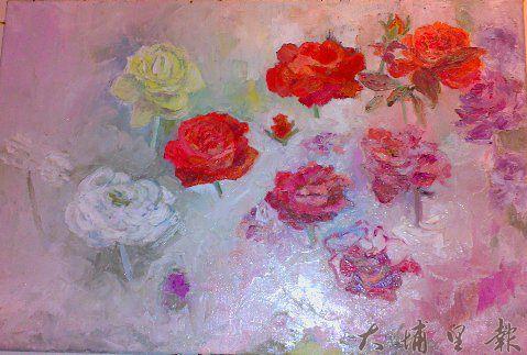 《玫瑰人生》余芳霞畫作。