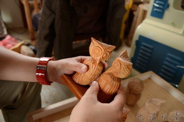 木雕貓頭鷹