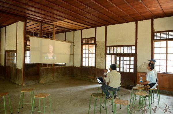 中興大學實驗林日式建築難得開放,成了迷你電影院。(柏原祥攝)