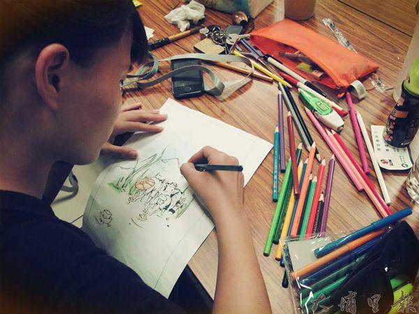 活動所需視覺皆由學生自己設計操刀。(朝陽科大學生提供)