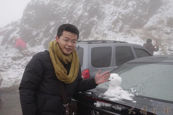 合歡山堆雪人