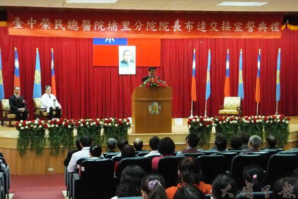 中榮埔里分院新任分院長葛光中表示將致力於提昇大埔里地區醫療品質。(唐茹蘋攝)