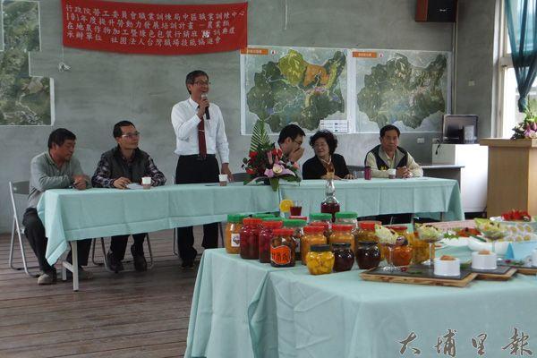 中區職訓中心蔡孟良主任希望桃米成為全國標竿。(唐茹蘋攝)