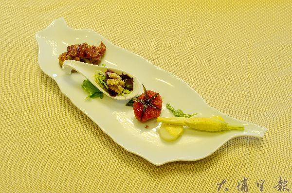 金都餐廳曾以這道台灣島冷盤,在台灣美食展中大放異彩。(柏原祥攝)