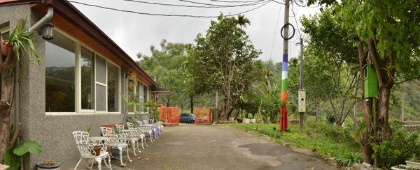 真食廚房位於魚池鄉共和村的世外桃源。(柏原祥攝)