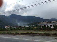 路邊燃燒農業廢棄物