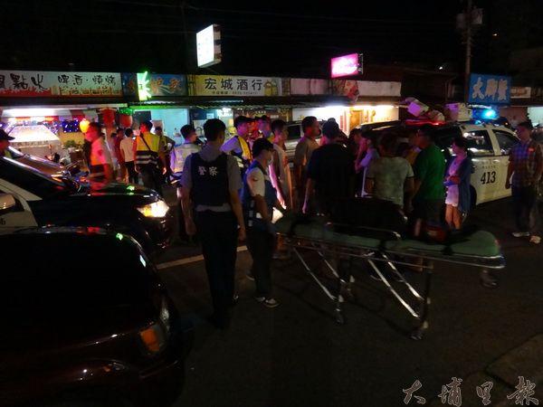 埔里熱帶嶼KTV發生青少年械鬥事件,中心碑消防分隊派員救護。
