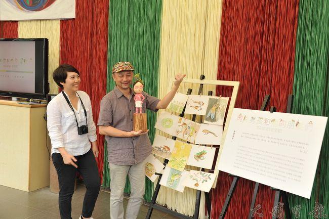 台北藝術大學研究所畢業的吳衍震(右)、周芳聿,在新故鄉文教基金會的贊助下,成為桃米第一個駐村藝術團隊。(柏原祥攝)