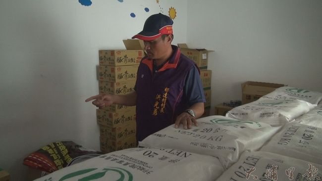仁愛鄉都達村長洪光勇表示,雖然投85縣道中斷,但部落物資充足,沒有斷糧危機。(諾爾攝)