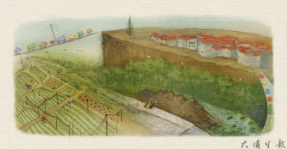 愛蘭堤岸水泥化專題 《歌詠南港溪 請你繼續喜歡我》。(文、圖/魏閤廷)