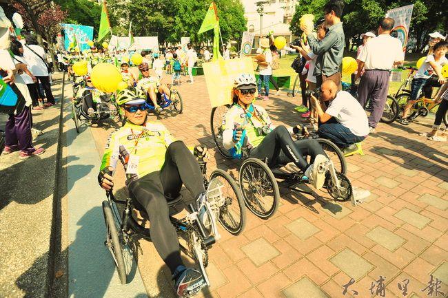 特色單車也參與埔里無車日的活動,為低碳城鎮盡一份力。(柏原祥攝)
