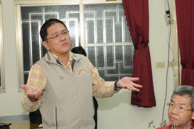 為了活化台電舊營業所,南門里長陳昭維表示,如果理性溝通、政治運作都行不通,那就只好帶南門里民到台電總公司抗議了。(柏原祥攝)