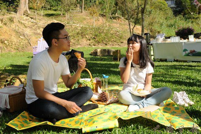 桃米野餐由暨大團隊研發,提供遊程設計及豐富營養的餐點。(柏原祥攝)