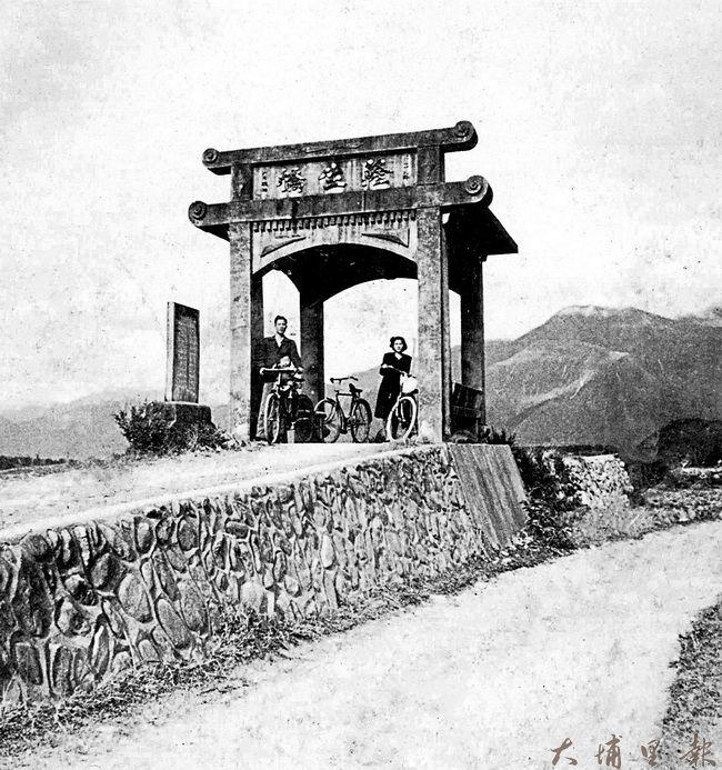 早期由劉阿梧先生出資興建的隆生橋。(埔里影像故事館提供)