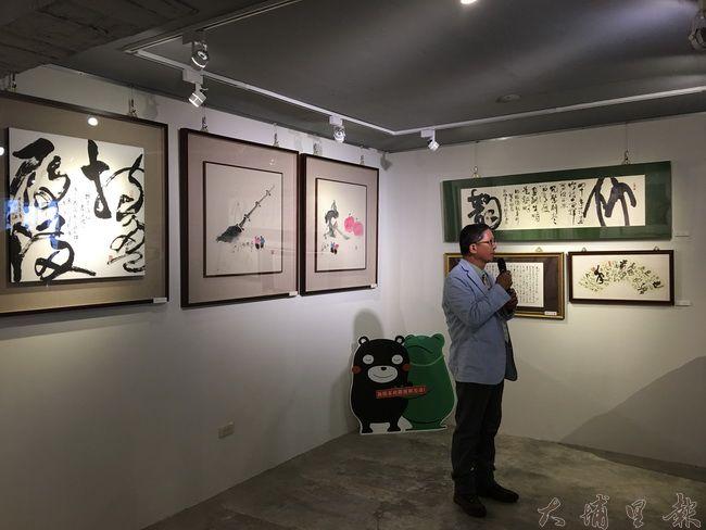 大埔里地區觀光發展協會理事長廖嘉展認為為熊本義賣活動喚醒民眾對原始的愛與互助的關懷。(唐茹蘋攝)