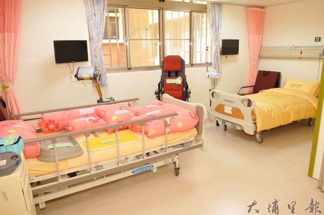 台中榮總埔里分院緩和療護病房啟用,提供雙人及單人病房。(柏原祥攝)