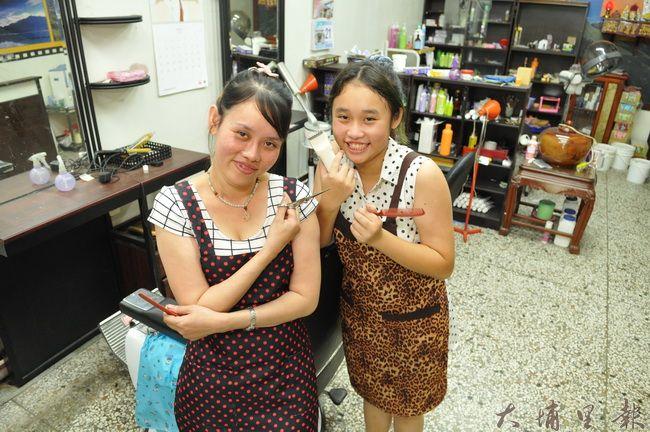 越南單親媽黃碧莉與國一女兒徐雅婷決定連辦3天義剪,為早療協會募款。(柏原祥攝)