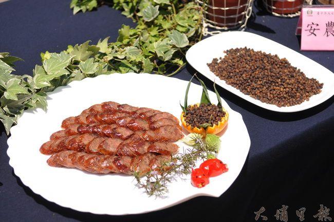 馬告(山胡椒)是原住民經常用到的香料,仁愛鄉農會與大安區農會合作,研製優質的的馬告香腸。(柏原祥攝)