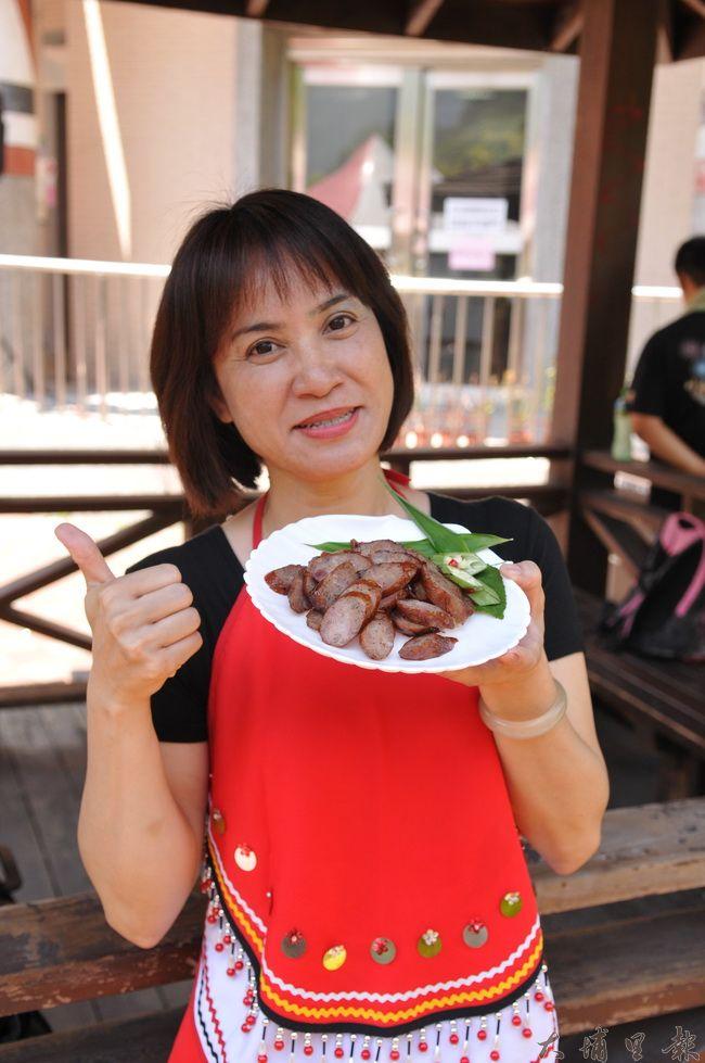 馬告(山胡椒)是原住民經常用到的香料,仁愛鄉農會與大安區農會合作,用馬告來做香腸。(柏原祥攝)