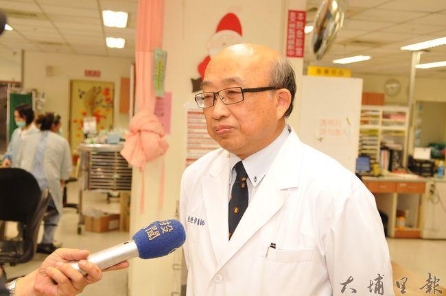 埔基院長陳恒常呼籲,民眾珍惜急診資源莫濫用,讓真正需要的民眾能得到妥善的照料。(柏原祥攝)