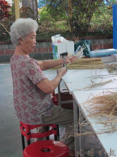 積極參與籃城社區活動的婆婆之一。(金城嚴 攝)