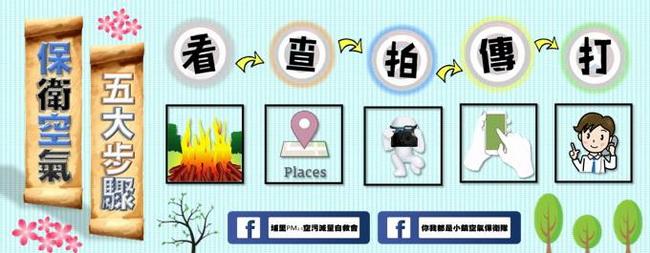 埔里PM2.5空污減量自救會,教導民眾檢舉空污五步驟。(金城嚴 攝)