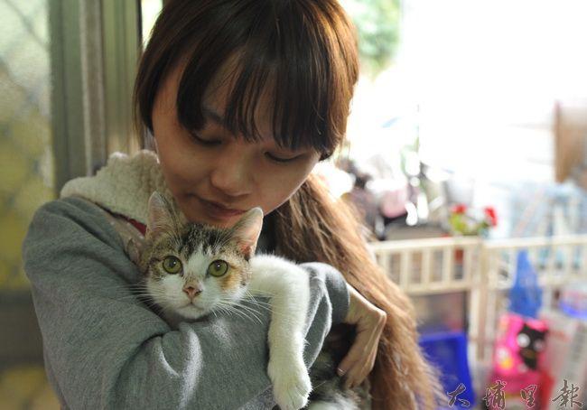 從事寵物美容行業,除了要專業技能,還要擁有極大的熱情,才能在業界生存,圖為波比留浪心家的張盈芳。(柏原祥 攝)