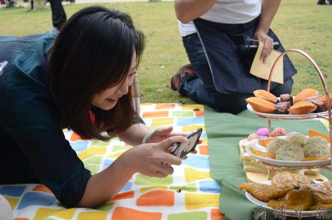 桃米野餐精緻的餐點、擺設,凸顯在地食材的豐富變化。(金城嚴 攝)