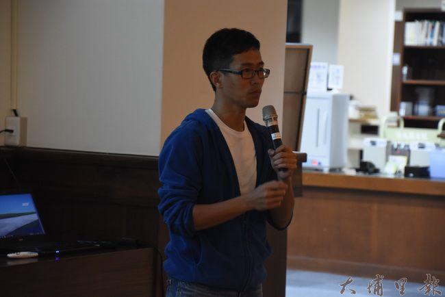 講師劉明浩解釋霧跟霾的不同,環境濕度、形狀是判斷霧跟霾重要關鍵。(金城嚴 攝)