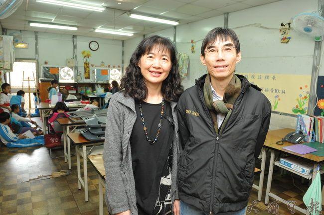 台灣彩虹雙福協會秘書長劉邦彥與妻子劉月梅,長期投入偏鄉課輔,生活過得相當儉樸。(柏原祥 攝)