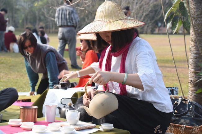 日管處與暨南大學邀請各社區茶藝達人一同共襄盛舉。(金城嚴 攝)