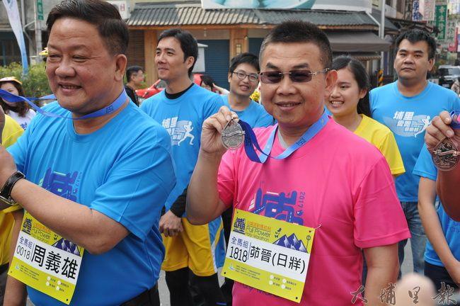承辦2017山城派對馬拉松的18度C文化基金會董事長茆晉詳表示,埔里鎮是被全國跑者票選為南投縣最想參加路跑的鄉鎮第一名。(柏原祥 攝)