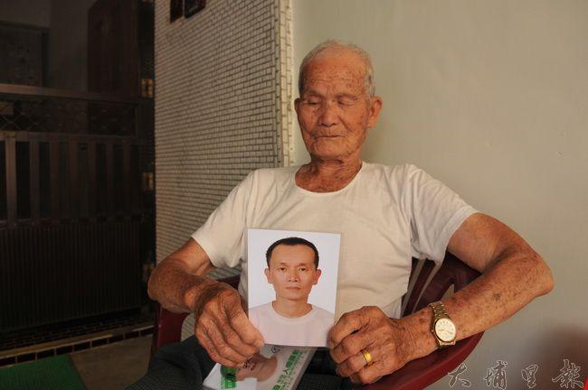 陳有成老先生的三兒失蹤多日,他盼望各界協助幫他找兒子。(柏原祥 攝)