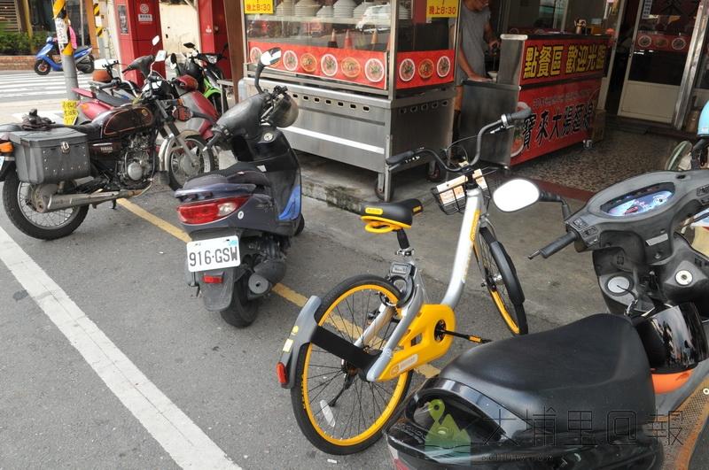 稍微留意一下,可以見到埔里大街小巷開始出現黃白相間醒目顏色的oBike。(柏原祥 攝)